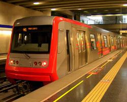 Metro lines of Santiago de Chile