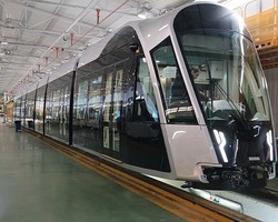 LUXEMBOURG: LIGHT RAIL TRAIN OF LUXEMBOURG