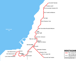 ALGERIA: MOSTAGANEM TRAMWAY